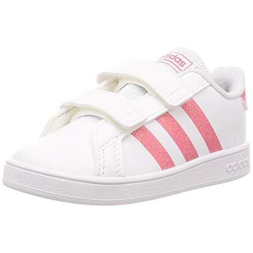 adidas Grand Court I, Scarpe da Ginnastica, Ftwr White/Real Pink s18/ftwr White, 21 EU