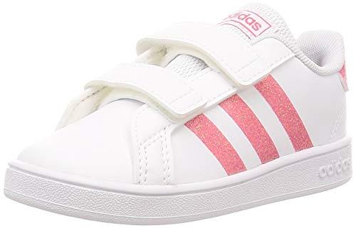 adidas Grand Court I, Scarpe da Ginnastica Unisex-Baby, Ftwr White Real Rosa S18 Ftwr White, 20 EU