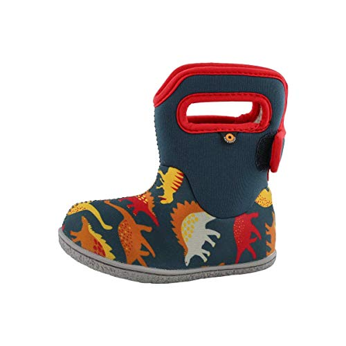 BOGS Boys Baby Dino Indigo Multi Insulated Washable WARM Wellies Boots 721651-6 UK 23 EU