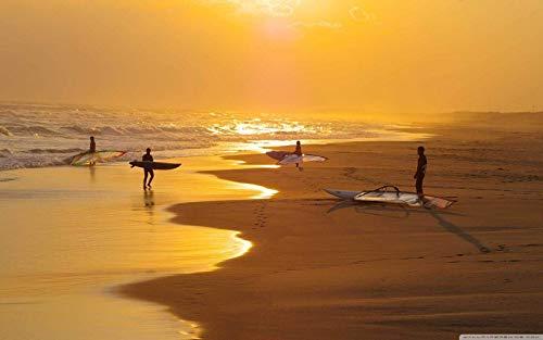 Seaside Sunset Surf Pattern 1000 piezas de rompecabezas, juguetes educativos para niños, juegos de padres e hijos, juegos de desarrollo intelectual