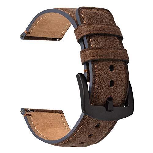 Fullmosa Cinturino Orologio 22mm,Ricambio di Cinturino,Cinturini per Orologi per Samsung/Huawei Sgancio Rapido, Cinturini in Pelle per Uomo e Donna,Watch Straps Compatible con 22mm