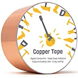 Copper Tape [2 Inch x 33ft] Copper Foil Tape Conductive Adhesive for EMI Shielding, Guitar Cavity, Electrical Conductive for Soldering, and More