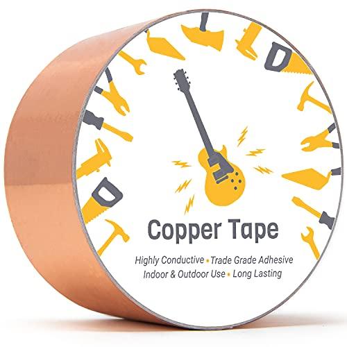 Cinta Conductora Adhesiva de Cobre (51mm x 5.5m) - Para Guitarras y...