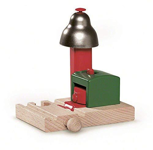 BRIO World 33754 Magnetisches Glockensignal – Eisenbahnzubehör für die BRIO Holzeisenbahn – Kleinkinderspielzeug empfohlen für Kinder ab 3 Jahren