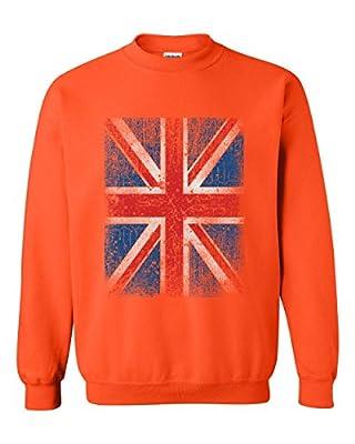 Ugo Union Jack British Flag Matching Couples Birthday Christmas Gift Style w Unisex Crewneck Sweatshirt