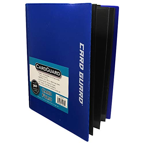 CardGuard Trading Card Pro-Folio, 9-Pocket Side-Loading Pages, Holds 360 Cards, Blue