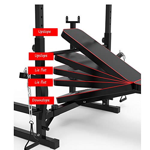 Adjustable Weight Bench with Leg Developer,Multifunctional Workout Station for Home Gym Weightlifting and Strength Training(Maximum Weight: 300kg)