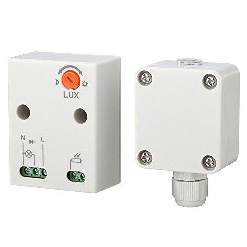 Maclean Energy MCE35 - Sensor de luz oscuridad 3450W 360° Sensor exterior