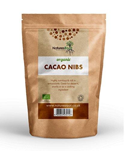 Natures Root Pezzi / Nibs di Cacao Biologici 500g - VARIETÀ CRIOLLO   PRODOTTO DA CHICCHI DI CACAO DI ELEVATA QUALITà   SUPER ANTIOSSIDANTE