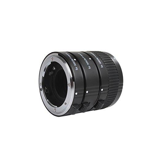 Movo Photo AF Tubo de extensión Macro Set para Nikon DSLR Cámara con 12mm, 20mm y 36mm Tubos (Soporte de Metal)