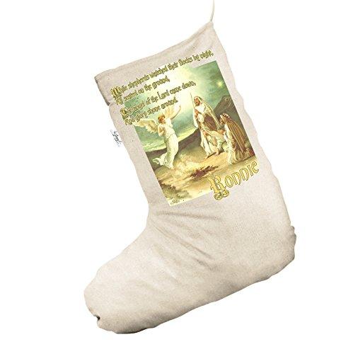 Vintage Angels Shephard personalizzato Jumbo Natural calza di Natale sacchetto regalo