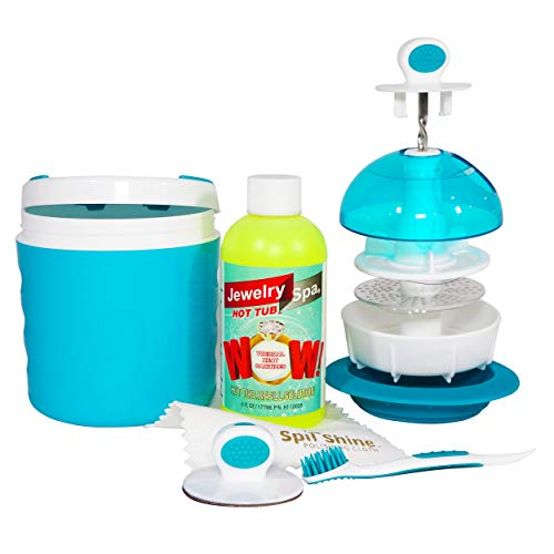 Jewelry Spa Hot Tub Jewelry Cleaner   Removes Tarnish, Germs and Odor from Rings, Diamonds, Gold, Silver and More   The Only Naturally-Based Jewelry Cleaning Kit and Jewelry Cleaning Solution