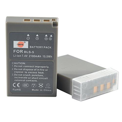 DSTE® 2x BLS-5 Li-ion Batería para Olympus PS-BLS5, OM-D E-M10, PEN E-PL2, E-PL5, E-PL6, E-PM2, Stylus 1