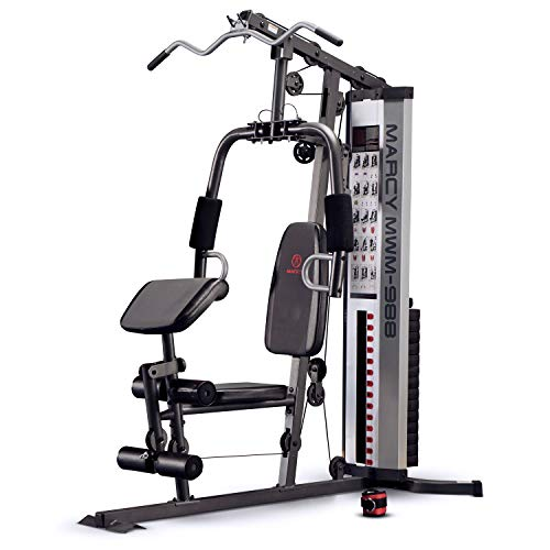 Marcy Unisex's Home Multi Gym with 68kg Weight Stack, Silver, One Size