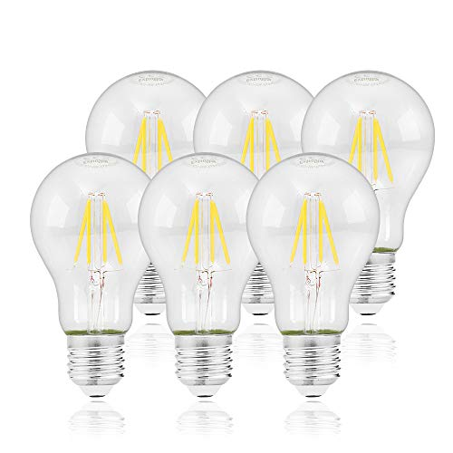 Bombilla retro vintage,Extrastat Bombillas Globo de Filamento LED E27 6W (equivalente a 60W),600 lm, Color Blanco frío...
