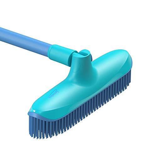 Spontex Catch & Clean, Kehrbesen mit Gummiborsten, Teleskopstiel und praktischem Auffangbehälter, hygienische und effiziente Reinigung für alle Bodenbeläge, 1 Set - 20