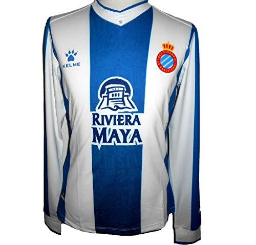 KELME Espanyol RCD Home 1A Equipacio Futbol Camiseta 2019-2020 (M)