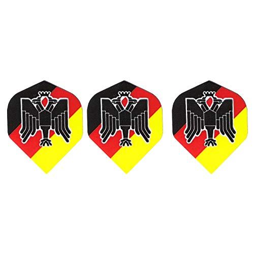 Britannia Darts 9 Pentathlon Deutschland Adler Transparent Dart Flights Standard (3 Sätze)