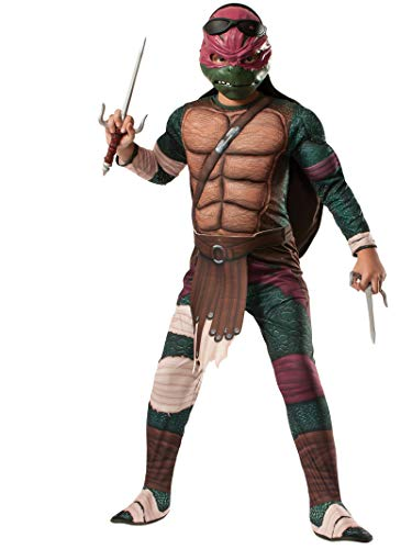 Rubies Teenage Mutant Ninja Turtles Deluxe Muscle-Chest Raphael Costume, Child Medium