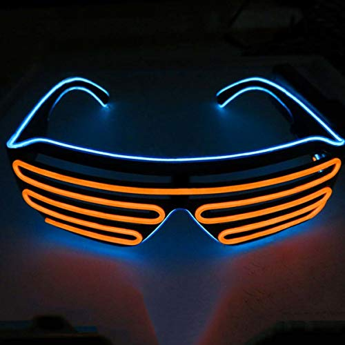 Neon Party Wire Shutter Glasses, Choice of Colours, Light-Up with Battery Pack
