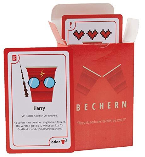 Beer Baller BECHERN® - Der ultimative Mix aus Kings Cup & Flip Cup! - Das Neue Kultspiel für euren Spieleabend! Kartenspiel für JGA Feier, WG-Party oder als Geschenkidee