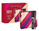 Rimmel London, Confezione Regalo Donna Gold & Shock Collection, Pochette Metalizzata con Mascara Extra Super Lash e Matita Occhi Soft Kohl Kajal