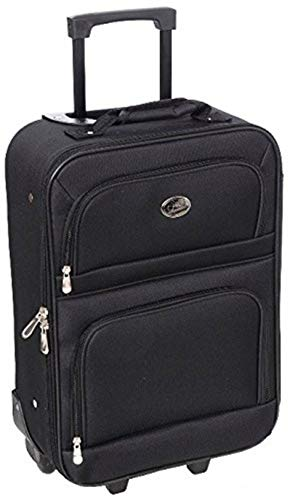 Jetstream Lightweight Luggage with Softside - Carry On Suitcase (Red, 18 Inch)