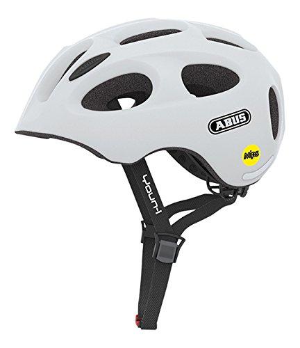 ABUS Youn-I MIPS Kinderhelm - Fahrradhelm für Kinder - für Mädchen und Jungen - 38810 - Weiß Matt, Größe M