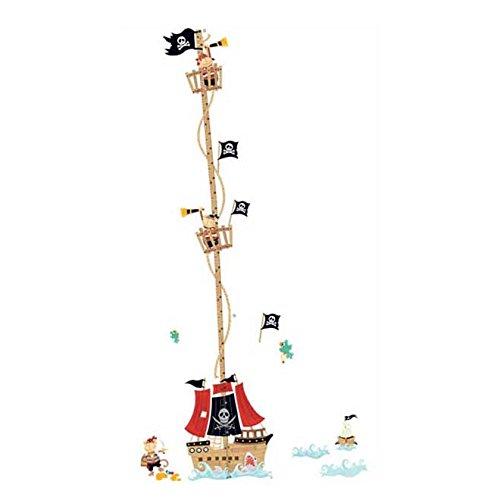 Pegatina pared vinilo decorativo barco pirata para cuartos bebes niños juegos guarderias colegios decoracion infantil de CHIPYHOME