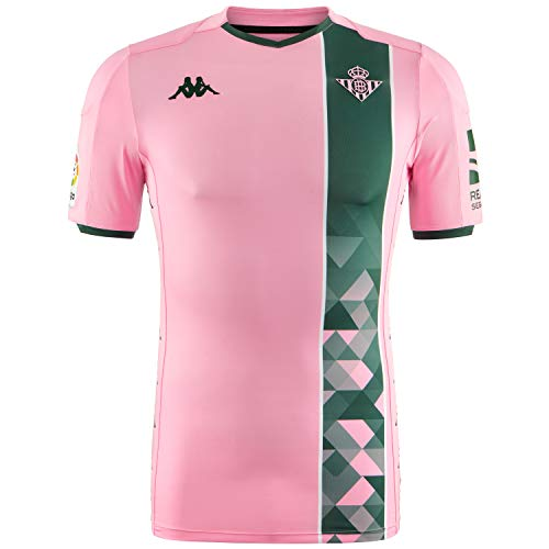 Kappa Real Betis Balompié Match Tercera Equipación 2019-2020, Camiseta, Rosa