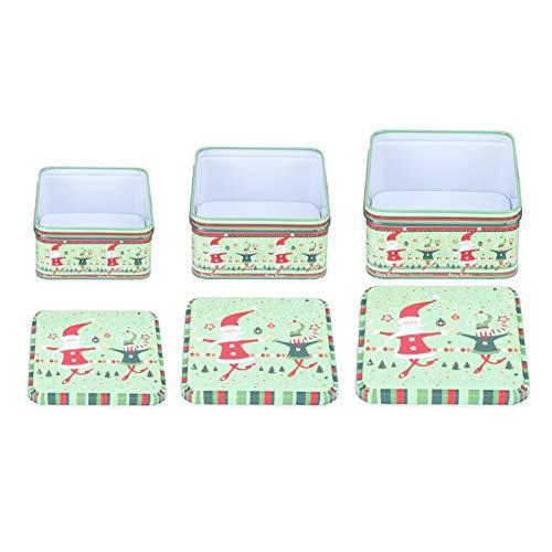 Geschenkbox, süße Zuckergussdose, modische schöne reizende haltende Weihnachtsgeschenke für Jungen und Mädchen, die Süßigkeiten halten, die Keks halten(Green suit)