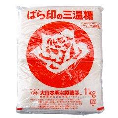 大日本明治精糖 ばら印 三温糖 1kg×20袋入 【メーカー規格】