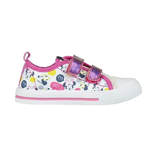 Cerdá Mädchen Zapatilla Loneta Baja Minnie Hohe Sneaker, weiß, 25 EU