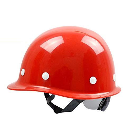 HSJDP Casque de Chantier,Casque Industriel De Sécurité,réglable Circonférence de la tête, 8 Points Cap Liner Soutien, Convient pour la Construction, l'huile, l'électricité,Rouge,140x220mm