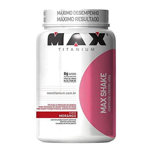 Max Shake - 400g Morango - Max Titanium, Max Titanium