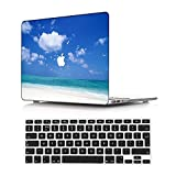 NEWCENT Nuevo MacBook Air 13' Funda,Plástico Ultra Delgado Ligero Cáscara Cubierta EU Teclado Cubierta para MacBook Air 13 Pulgadas con Retina Display Touch ID 2018 Versión(Modelo:A1932),Paisaje A 71