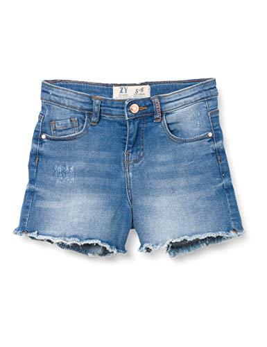 ZIPPY Short Vaquera para niña SS20 Pantalones Cortos de Jean, Medium Blue Denim, 13/14 para Niñas