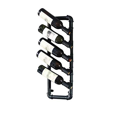 MYJHUIY soportes para botellas de vino de hierro montados en la pared, soporte para botellas de vino tinto para bebidas y licores, organizador colgante de metal