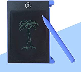 4.4インチポータブルLCD手書きボード電子手書きパッド子供大人用ホームオフィス用タブレットメモ帳(青)
