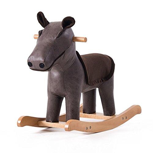 Rocking Horse Rocking Chair en bois massif de 1-5 ans bébé enfant jouet cadeau -LI JING SHOP (Couleur : #-005)