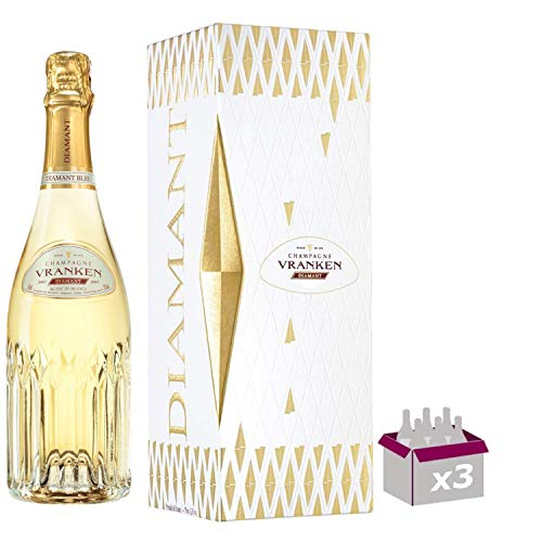Champagne Vranken - Diamant Blanc de Blancs - In confezione regalo 3 * 75cl