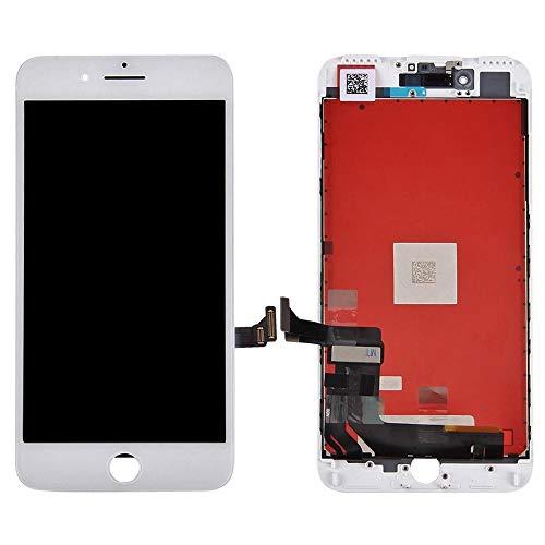 Ellenne LCD Display para iPhone 7 Plus Cristal Touch Pantalla Negro Blanco + Kit Destornillador (Blanco)