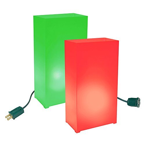 Lumabase 34010 10 Count Electric Luminaria Kit, Red/Green