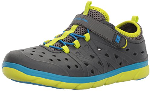 Stride Rite Made 2 Play Phibian Sneaker Sandal Water Shoe (Toddler/Little Kid/Big Kid), Grey,7 M US Toddler