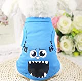 XL Blue Mob Summer Casual Dog Vest Cartoon Dog Cloth Breathable Pet Dog Vest for Small Dog Jersey Shirt for Cats