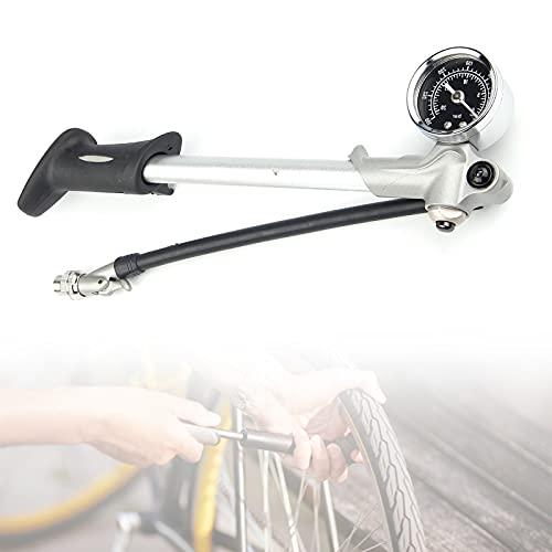 EFGS Válvula de Bomba de Bicicleta de Carretera de aleación de Aluminio para válvula Schrade, Bomba de Piso de Bicicleta con manómetro de 300 PSI, Bomba de Bicicleta portátil