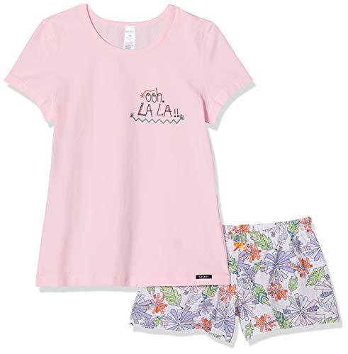 Skiny Mädchen Pyjama kurz Cosy Night Sleep Girls Zweiteiliger Schlafanzug, Rosa (Rose 2850), (Herstellergröße:140)