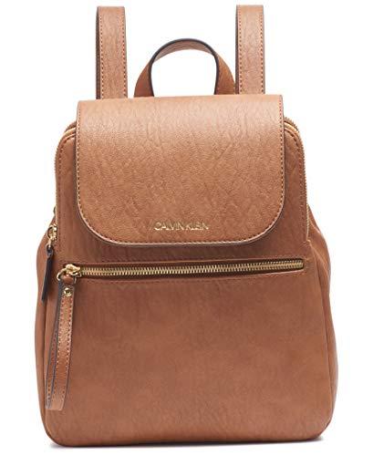 Calvin Klein Elaine Bubble Lamb Novelty Key Item Flap Backpack, Caramel
