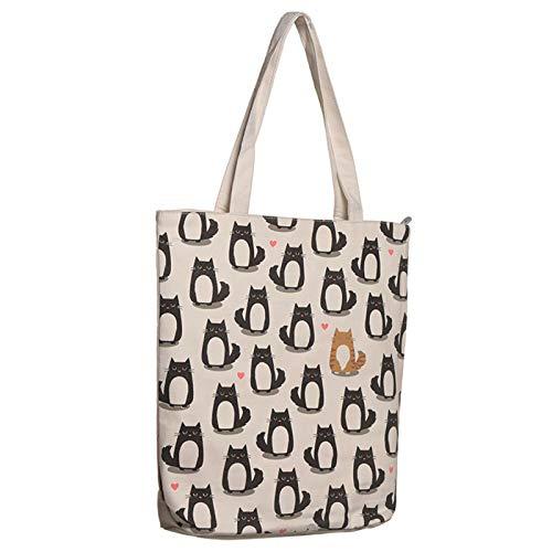 Einkaufstasche aus Baumwolle, Motiv: Katze