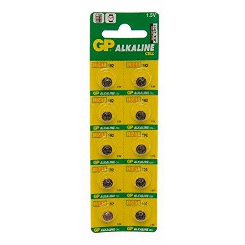 GP-Batterien GP192-C10 Alkaline Knopfzellen, 10 Stück